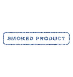 Smoked product textile stamp vector