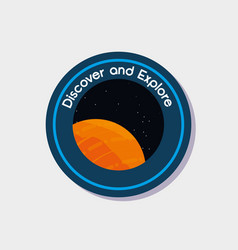 Space and universe patches design vector