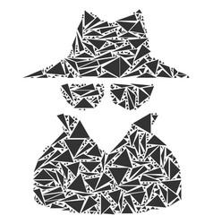 spy collage of triangles vector image