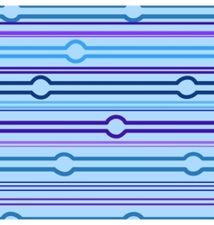Striped and circle blue seamless pattern vector image