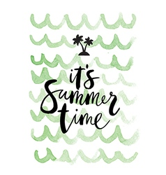 Summer background Its summer time vector