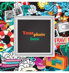 summer photo frame vector image