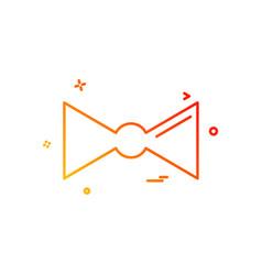 tie icon design vector image