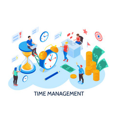 time management isometric vector image