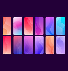Trendy abstract wallpapers for mobile phone vector
