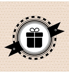 Vintage retro label tag badge gift icon vector image