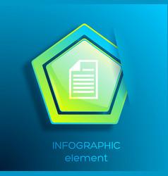 web infographic element vector image