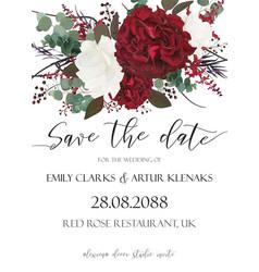 wedding save the date invite invitation card vector image