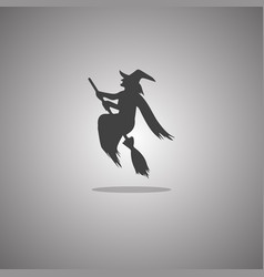 Witch broomstick halloween isolated vector