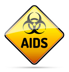 aids hiv biohazard virus danger sign with reflect vector image vector image