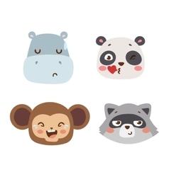 Animal emotion avatar icon vector image vector image