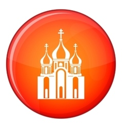 Church building icon flat style vector image