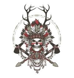 Dead chief badge vector