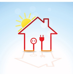 Green house solar circuit vector image