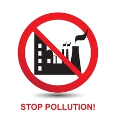 Stop Pollution Icon vector image vector image