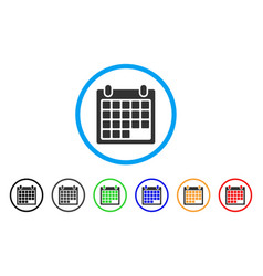 calendar sheet rounded icon vector image