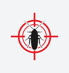 cockroach icon red target vector image vector image