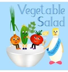 fresh vegetables for cooking salad vector image