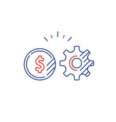 gear wheel financial plan money investment vector image vector image