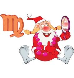 Santa Claus Astrological Sign in Zodiac Virgo vector image vector image