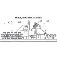 spain balearis islands architecture line skyline vector image