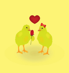 two chickens vector image