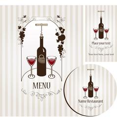 Bottle of wine vector