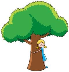 Tree Hugger vector image