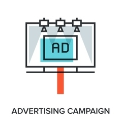 advertising campaign vector image vector image