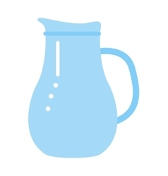 clay jug isolated on white vector image