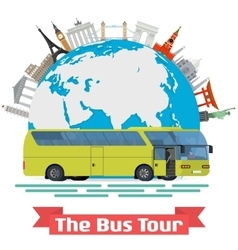 conceptual - The Bus Tour of vector image vector image