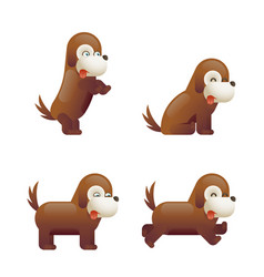 cute dog 3d cartoon character isolated vector image