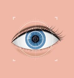 digital scanning of the retina vector image vector image