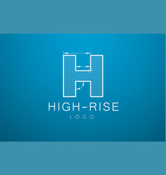 logo template letter h in the style of a vector image vector image