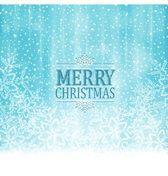 Merry Christmas typography winter vector image vector image