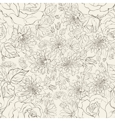 Seamless pattern from chrysanthemums vector image