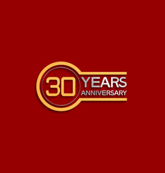 30 years anniversary golden and silver color vector