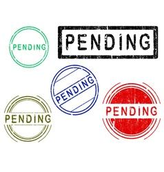 5 Grunge Stamps PENDING vector