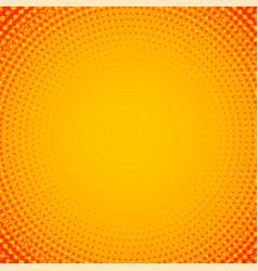 abstract orange circular halftone background vector image