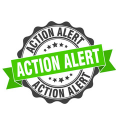 Action alert stamp sign seal vector