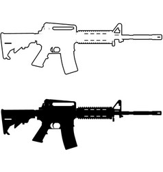 Assault rifle vector