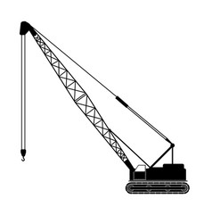 Backhoe crane vector