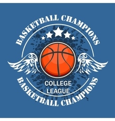 Basketball championship - emblem for t vector image