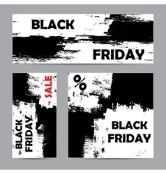 Black friday white set vector