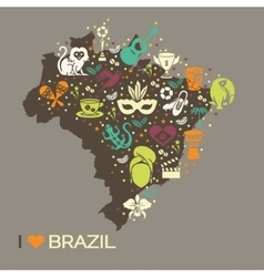 Brazilian thematic print 6 vector