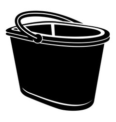 bucket for water icon simple style vector image