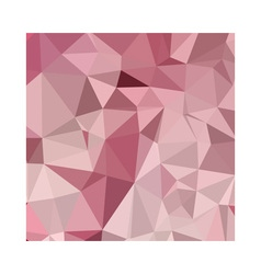 Carnation pink abstract low polygon background vector