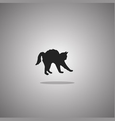 cat silhouette isolated vector image