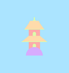 Chinese temple of heaven pagoda vector