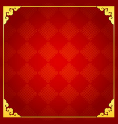 Chinese traditional background with golden frame vector